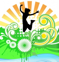 happy girl vector image vector image