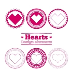 hearts design elements vector image