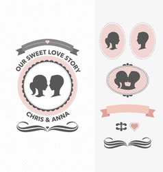 Our sweet love story vector image vector image
