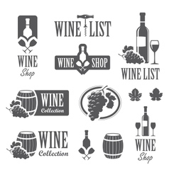 Wine signs vector image vector image