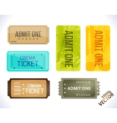Admit one Different Stickers vector image vector image