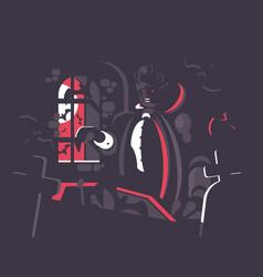 dracula cartoon character vector image