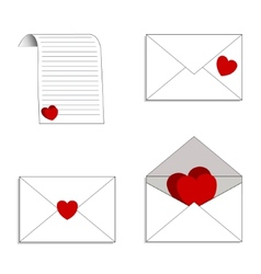 Envelopes and letters with declarations of love vector image