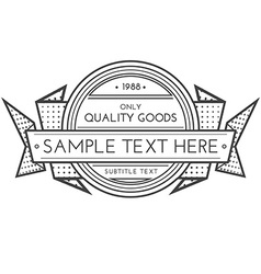 outline retro banner template vector image vector image