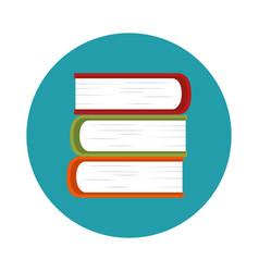 text book school icon vector image vector image