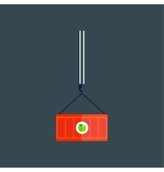 Transport box vector image