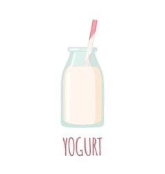 Yogurt icon on white background vector image