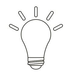 bulb idea innovation creative outline vector image vector image