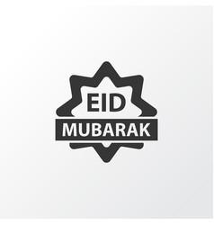 eid mubarak icon symbol premium quality isolated vector image vector image