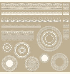 lacy vintage design elements vector image