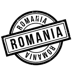 Romania rubber stamp vector image vector image