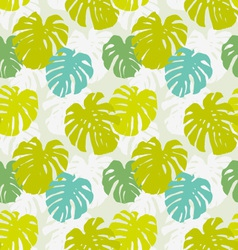 Seamless pattern with monstera leafs vector image vector image