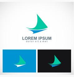 triangle loop abstract arrow logo vector image vector image