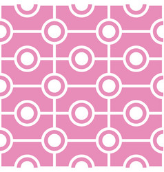 abstract circles seamless geometric pattern vector image vector image