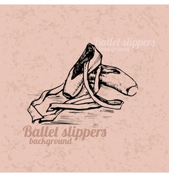 Ballet slippers background vector image vector image