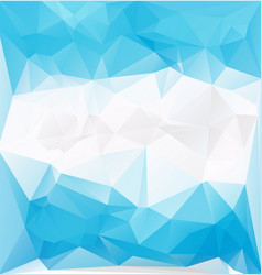 blue frozen low polygonal vector image