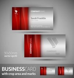 Business card template - elegant vector