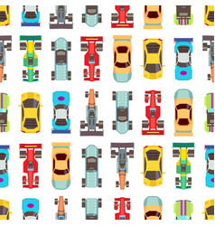 cars seamless racing vector image vector image