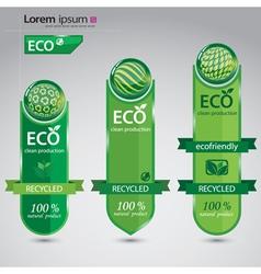 Ecofriendly cards vector image vector image