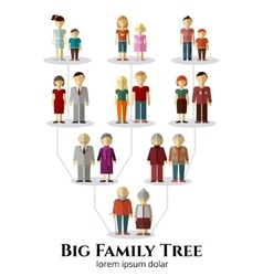 Family tree with people avatars of four vector image vector image