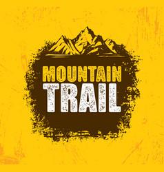 Outdoor adventure trail creative design vector