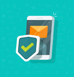 smartphone protection flat vector image vector image