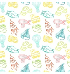 Transport toy seamless pattern vector