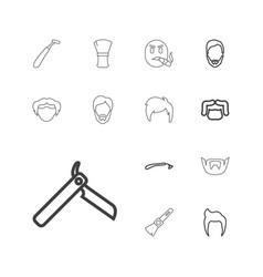 13 beard icons vector