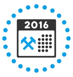 2016 Working Days Icon vector image