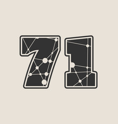 71 number vector