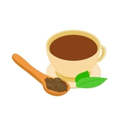 A cup of tea icon isometric 3d style vector