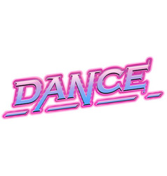 a dance logo on white background vector image