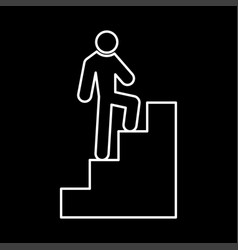 a man climbing stairs it is icon vector image