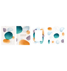 Abstract blobs watercolor background banner poster vector