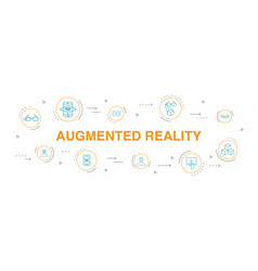 Augmented reality infographic 10 steps circle vector
