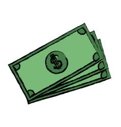 Banknote bank money currency cash icon vector