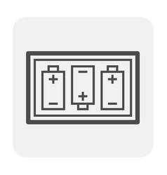 battery icon black vector image