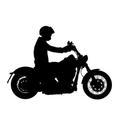 Biker driving a motorcycle ride silhouette vector