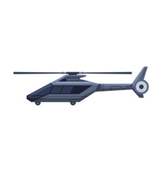 Black helicopter vehicle government or vector