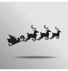black Santa Claus Driving in a Sledge Icon button vector image