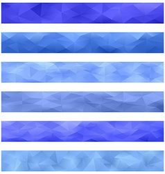 Blue banner background set vector image