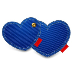 blue jeans hearts vector image