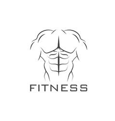 Bodybuilder Fitness Model vector