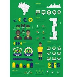 Brazil infographic set vector image