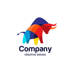 bull color vector image