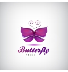 Butterfly logo Spa salon icon vector
