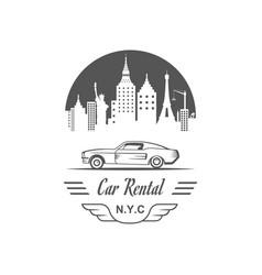 Car rental logotype vector