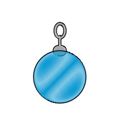 Christmas ball decoration ornament image vector