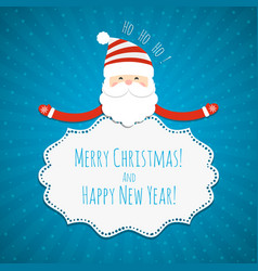 christmas frame with santa claus vector image