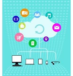 Cloud technologies - Infographics vector